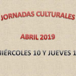 JORNADAS CULTURALES ABRIL 2019