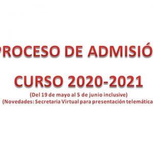 ADMISIÓN 2020 – 2021