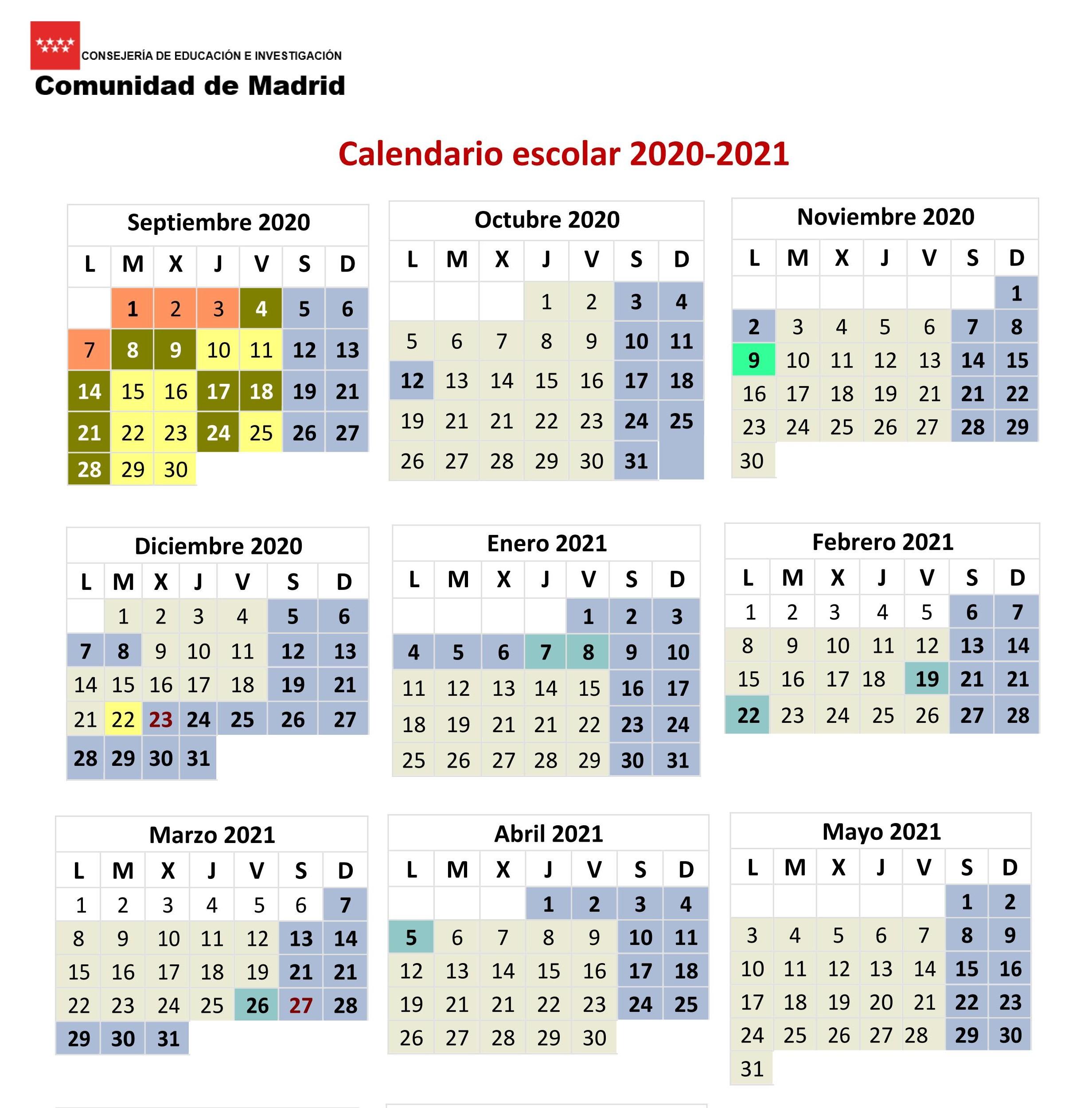 Calendario escolar