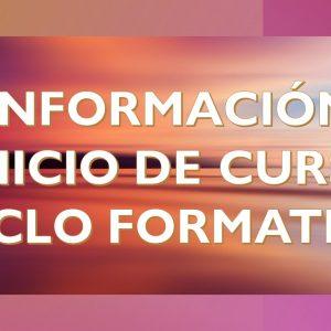 INFORMACIÓN DE INICIO DE CURSO PARA 1APD Y 2APD